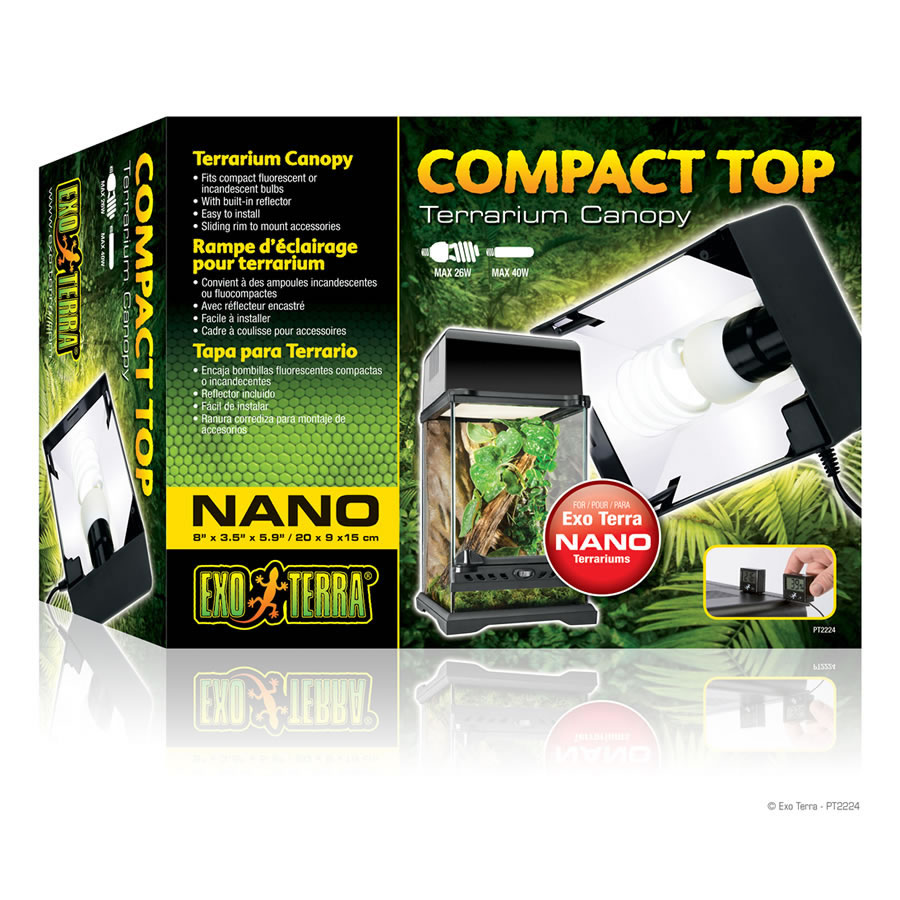 exo terra compact nano canopy 20cm - evolution reptiles