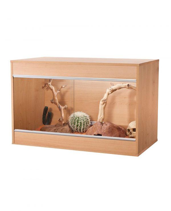 an image of the VivExotic Repti-Home Wooden Vivarium - Maxi Medium in oak