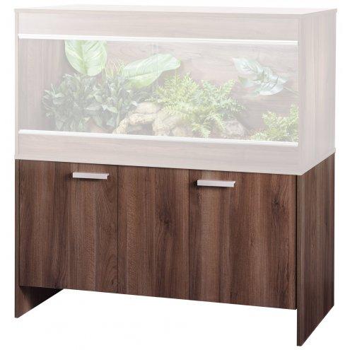 an image of a walnut-coloured Vivexotic repti-home vivarium cabinet for bearded dragon vivariums