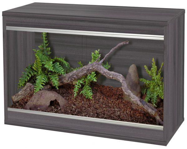 VivExotic Reptihome small wooden vivarium in colour grey